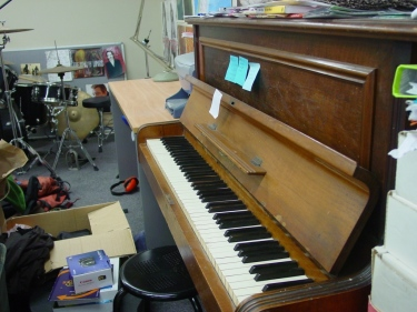 Piano in use
